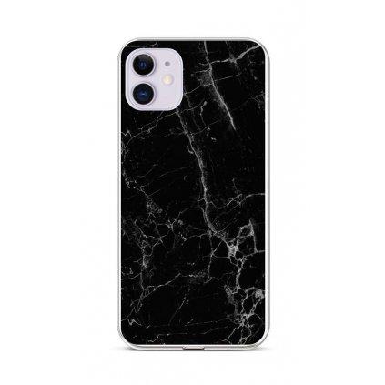 Zadný silikónový kryt STYLE na iPhone 11 Mramor čierny