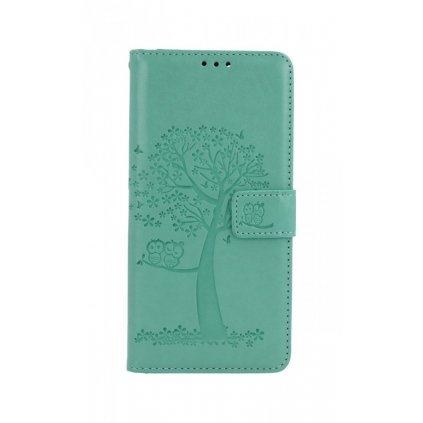 Flipové puzdro na Xiaomi Redmi Note 10 Pro Zelený strom sovičky