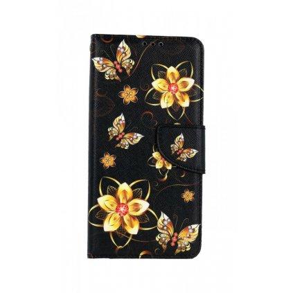 Flipové puzdro na Xiaomi Redmi Note 10 Pro Zlaté kvety
