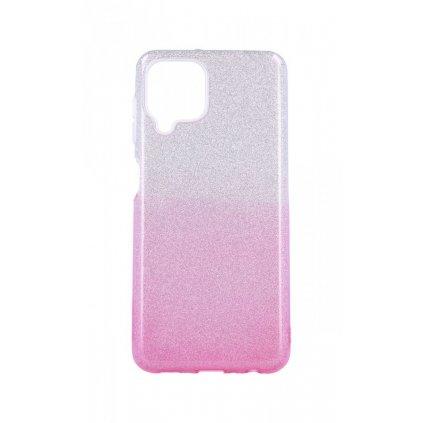 Zadný pevný kryt na Samsung A22 glitter strieborno-ružový