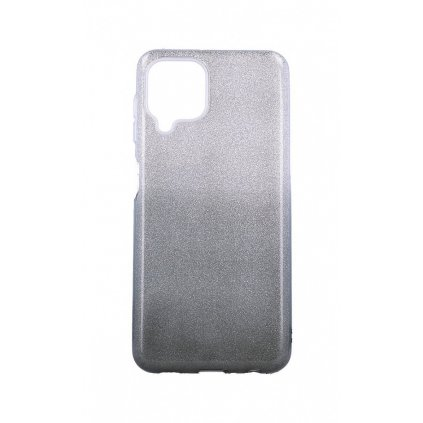 Zadný pevný kryt na Samsung A22 glitter strieborno-čierny