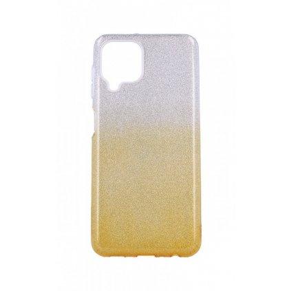 Zadný pevný kryt na Samsung A22 glitter strieborno-oranžový