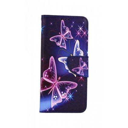 Flipové púzdro na Samsung A22 Modré s motýlikmi