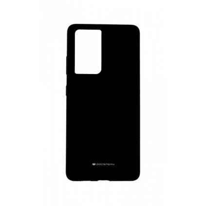 Zadný silikónový kryt Mercury Silicone na Samsung S21 Ultra čierny