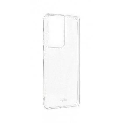 Zadný silikónový kryt Roar na Samsung S21 Ultra priehľadný