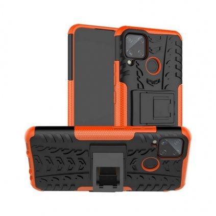 Ultra odolný zadný kryt na Realme C11 oranžový