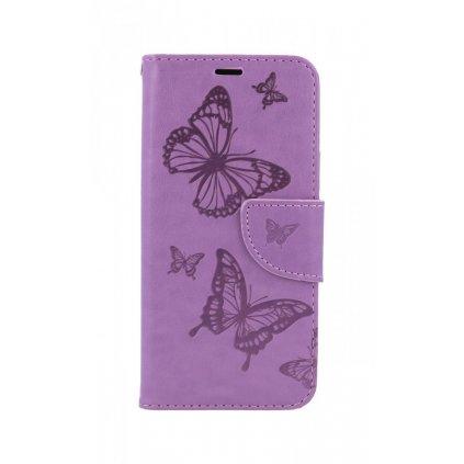 Flipové púzdro na iPhone 11 Butterfly fialové