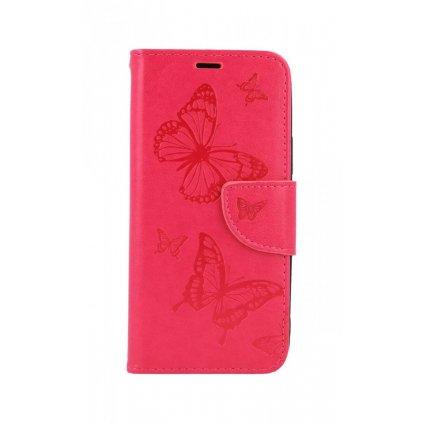 Flipové púzdro na iPhone 11 Butterfly ružové