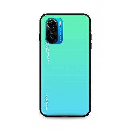 Zadný pevný kryt LUXURY na Xiaomi Poco F3 dúhový zelený
