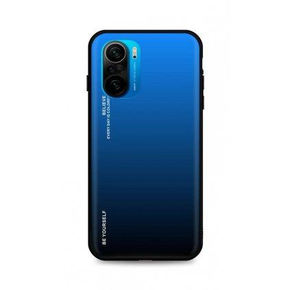 Zadný pevný kryt LUXURY na Xiaomi Poco F3 dúhový modrý