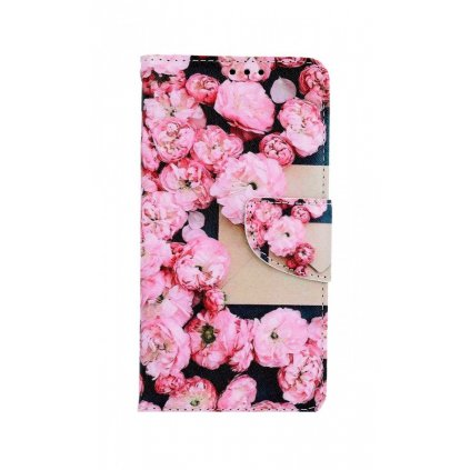 Flipové púzdro na iPhone 11 Ružové kvety