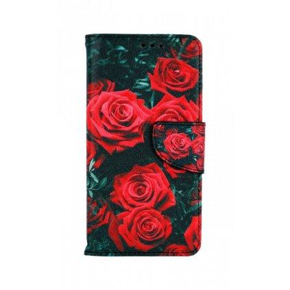 Flipové púzdro na iPhone 11 Červené ružičky