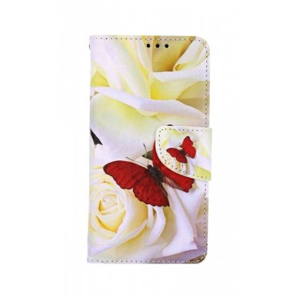 Flipové púzdro na iPhone 11 Červený motýľ