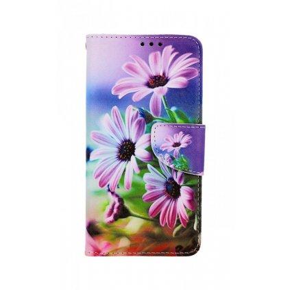 Flipové púzdro na iPhone 11 Fialové kvety