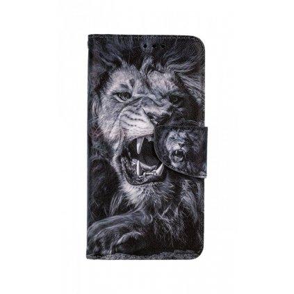 Flipové púzdro na iPhone 11 Čiernobiely lev