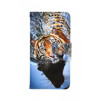Flipové púzdro na iPhone 11 Hnedý tiger