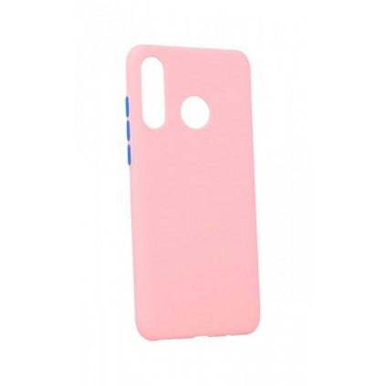 Zadný silikónový kryt Solid na Huawei P30 Lite ružový