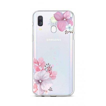 Zadný silikónový kryt na Samsung A40 Violet Blossom
