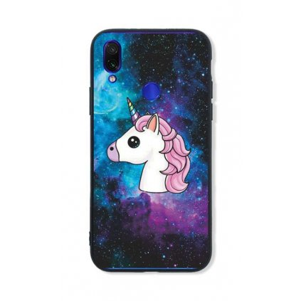 Zadný pevný kryt LUXURY na Xiaomi Redmi Note 7 Space Unicorn