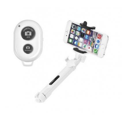 Bluetooth tripod selfie tyč Blun biela