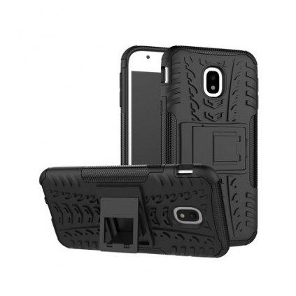 Zadné puzdro čiže obal Samsung J3 2017 čierny so stojanom