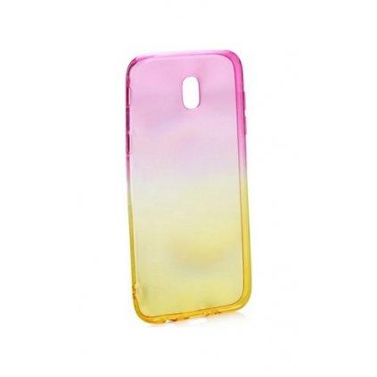 Zadný silikónový kryt Forcell na Samsung J3 2017 dúhový ružový