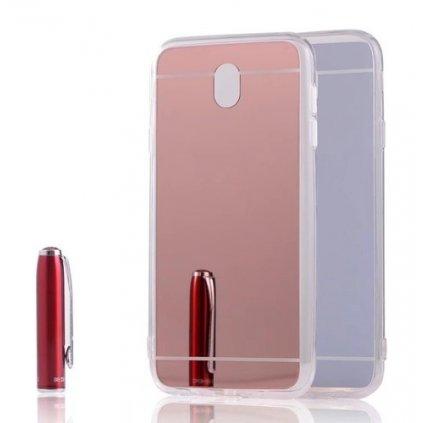 Zadný zrkadlový kryt na Samsung J5 2017 ružový
