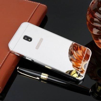 Zadný zrkadlový kryt na Samsung J5 2017 strieborný