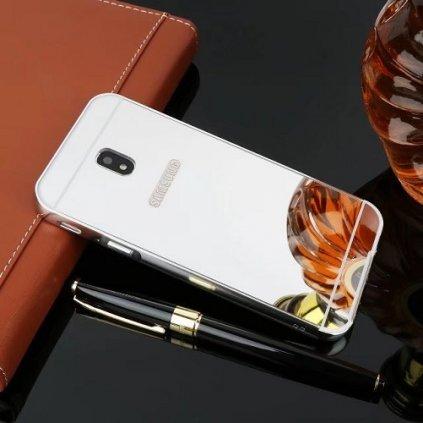 Zadný zrkadlový kryt na Samsung J3 2017 strieborný