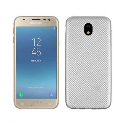 Zadný silikónový kryt na Samsung J5 2017 Carbon strieborný