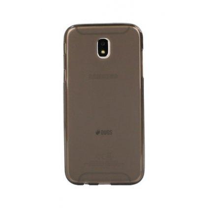 Zadný silikónový kryt na Samsung J3 2017 tmavý priehľadný