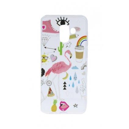 Zadný silikónový kryt na Samsung A8 2018 Flamingo