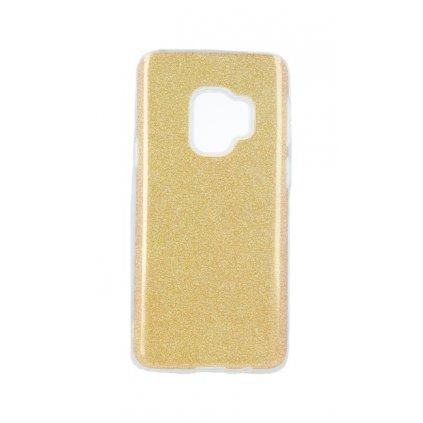 Zadný pevný kryt na Samsung S9 glitter zlatý