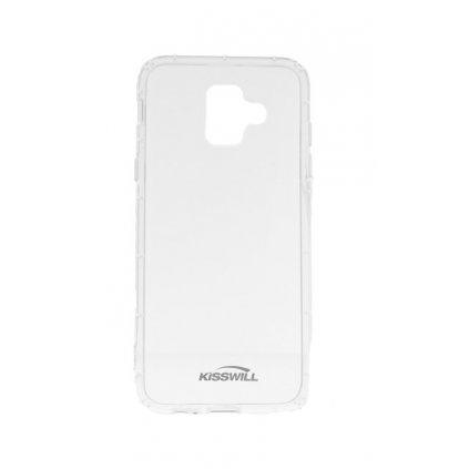 Zadný silikónový kryt Kisswill Air Around na Samsung A6 priehľadný