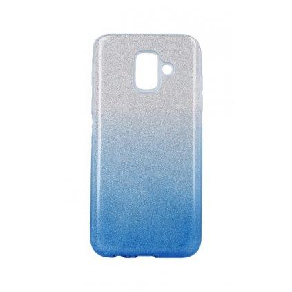 Zadný pevný kryt Forcell na Samsung A6 glitter strieborno-modrý