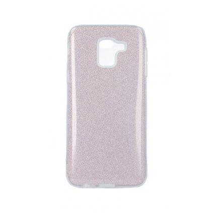 Zadný pevný kryt Forcell na Samsung J6 glitter ružový