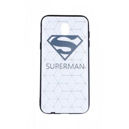 Zadný 3D silikónový kryt na Samsung J5 2017 Biely Superman