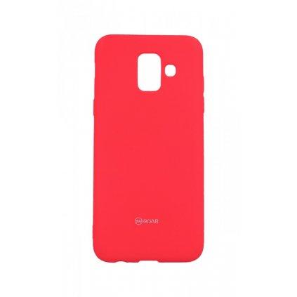 Zadný silikónový kryt Roar na Samsung A6 ružový