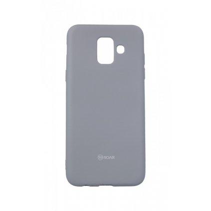 Zadný silikónový kryt Roar na Samsung A6 šedý