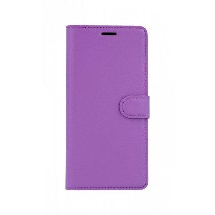 Flipové puzdro na Samsung J4 + fialové s prackou