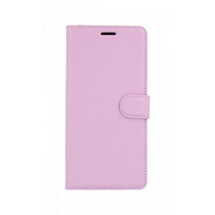 Flipové puzdro na Samsung J4 + ružové svetlé s prackou