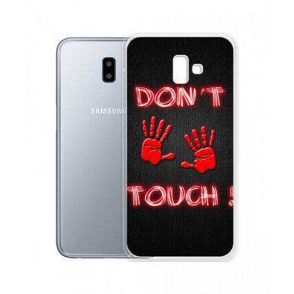 Zadný silikónový kryt na Samsung J6 + Dont Touch Red