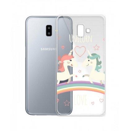 Zadný silikónový kryt na Samsung J6 + Unicorn Love
