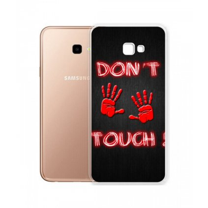 Zadný silikónový kryt na Samsung J4 + Dont Touch Red