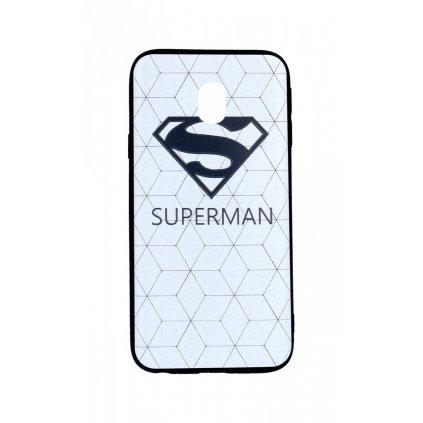 Zadný 3D silikónový kryt na Samsung J3 2017 Biely Superman