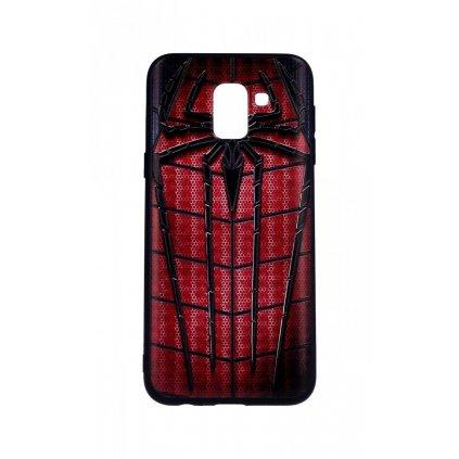Zadný 3D silikónový kryt na Samsung J6 Spider-man