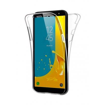 Ultratenký silikónový kryt na Samsung J6 predný + zadný priehľadný