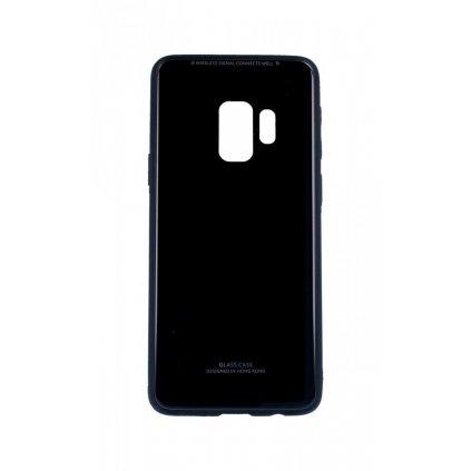 Zadný pevný kryt GLASS na Samsung S9 čierny