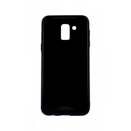 Zadný pevný kryt GLASS na Samsung J6 čierny