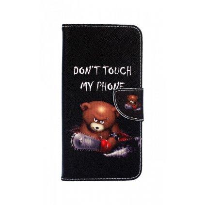 Flipové puzdro na Samsung J6 + Dont Touch macko